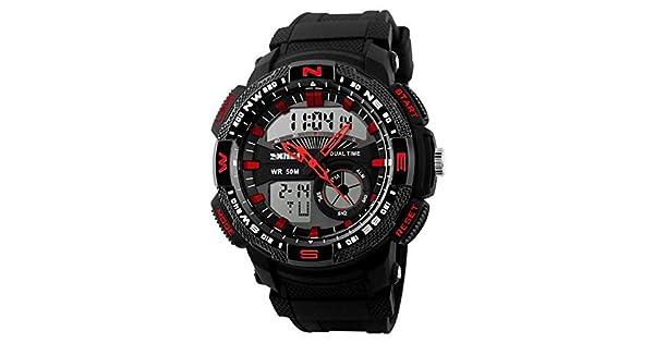 344d1944494 Relógio Masculino Skmei Anadigi 1109 PT-VM  Amazon.com.br  Amazon Moda