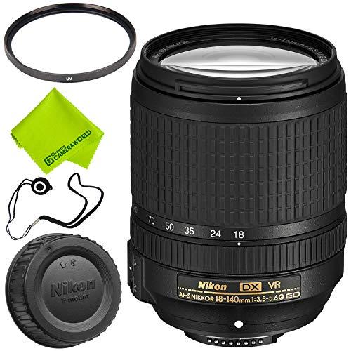 Nikon AF-S DX NIKKOR 18-140mm f/3.5-5.6G ED VR Lens + 67mm U