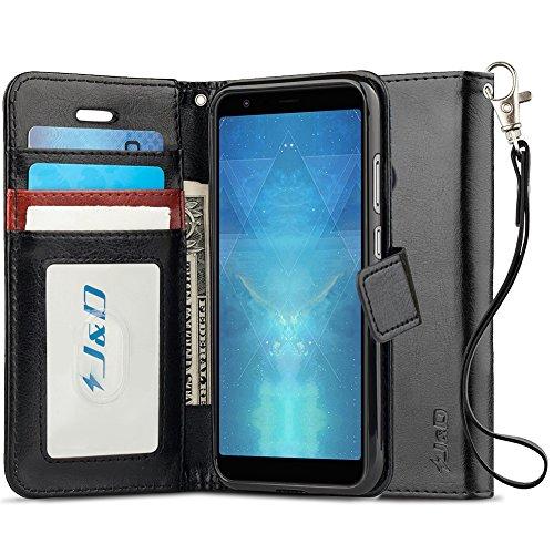J&D Case Compatible for ZenFone Max Plus Case, [Wallet Stand] [Slim Fit] Heavy Duty Shockproof Flip Cover Wallet Case for ASUS ZenFone Max Plus (M1) Wallet Case – [Not for Zenfone Max M1/Max Pro M1]