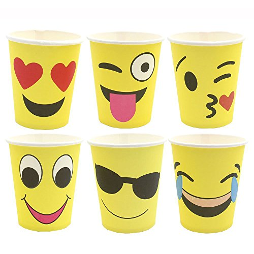HAZOULEN Set of 60 Emoji Party Paper Cups, 9 -