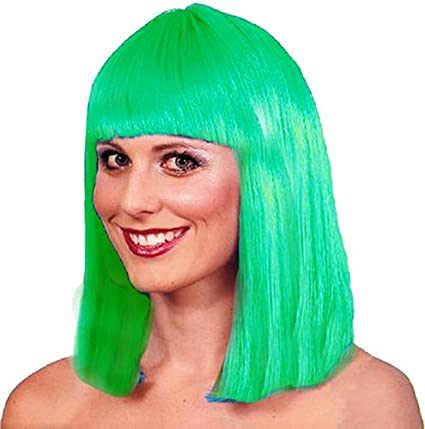 El Carnaval Peluca melena flequillo verde