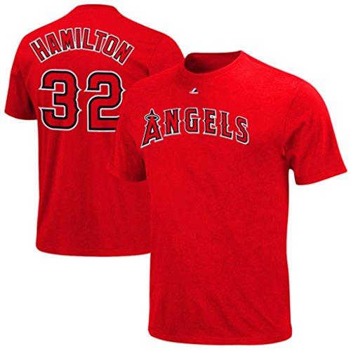 Los Angeles Angels MLB Mens Josh Hamilton #32 Player Tee Shirt Red Big & Tall Sizes (2XL)