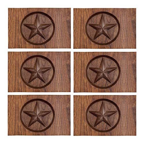 InterestPrint Western Texas Star in Wood Place Mats Heat-Resistant Placemats Stain Set of 6 Resistant Anti-Skid Washable Fabric Placemat Table Mats, 12