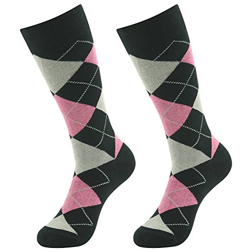 Pink And Black Striped Socks - 7