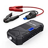 Automotive : TENKER 600A Peak 14000mAh Portable Car Jump Starter (for 5.0L Gas/ 3.5L Diesel Engine), Emergency Battery Booster Pack, Power Bank Portable Charger with 2 Smart USB Ports, LCD Screen & LED Flashlight