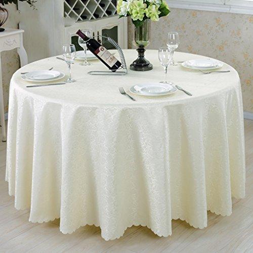 Beige Round-300cm QWM-Grande nappe Nappes rondes, Restaurant Hôtel Ensemble de table à café en couleur solide Toiles en beige QWM-couverture de table ( Couleur   Beige , taille   Round-300cm )