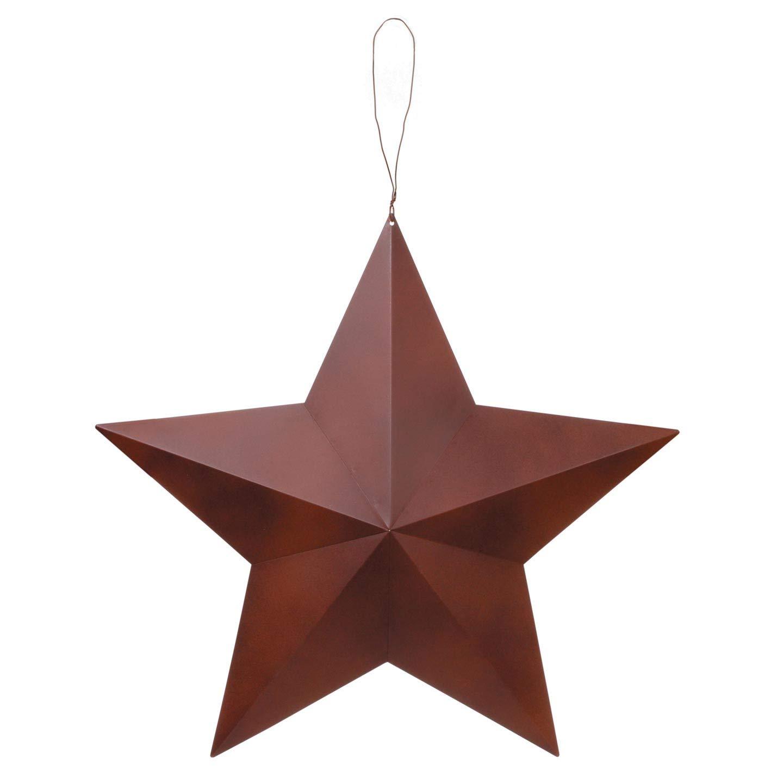 Bulk Buy: Darice DIY Crafts 3-D Star Rustic Metal 24 inches (12-Pack) 6556-85