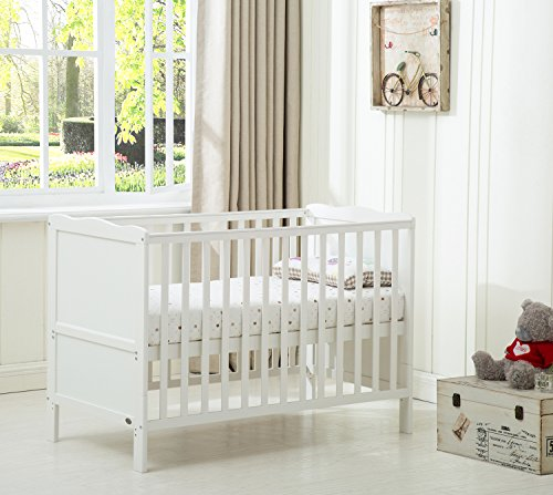 Mcc Wooden Baby Cot Bed Toddler Bed Premier Water repellent Mattress Made...