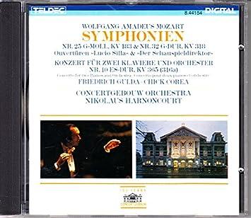 10 (KV 365), Lucio Silla Overture (KV 135), Der Schauspieldirektor Overture (KV 486) (100 Years Concertgebouw Centennial Series)