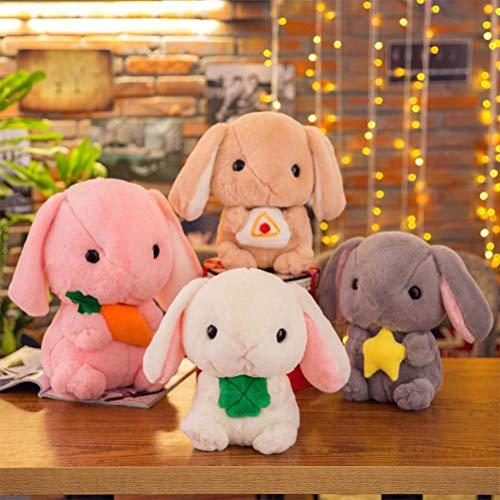 LQT Ltd Top Stuffed Animals Bunny Anime Cartoon Soft Toys 20cm Crystal Super Soft Bunny Plush Toys Stuffed Doll Kids Baby Toys Plush Bunny Dolls ()