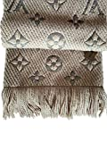 Made in Italy Luxury LVILOG0MANIA iconic monogram Collection UNISEX BEIGE Scarf wool silk clearance