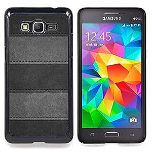 Minimalist Stitched Leather Pattern Caja protectora de pl??stico duro Dise?¡Àado King Case For Samsung Galaxy Grand Prime G530H G5308