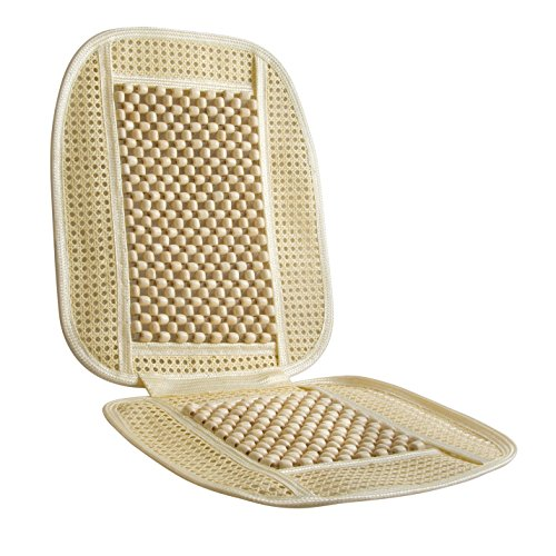 Cool Rattan Cover (Bead and Rattan Cool Seat Cover HealthMate Products by Wagan IN9912)