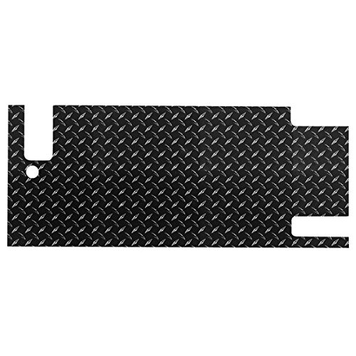Warrior Tailgate Cover (Warrior Products 908DPC Powder Coated Diamond Tread Tailgate Cover for Jeep YJ)