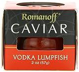 Romanoff Caviar Lumpfish Red Vodka, 2 oz