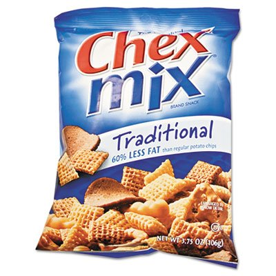 Chex Mix, Traditional Flavor Trail Mix, 3.75oz Bag, 8/Box by Chex