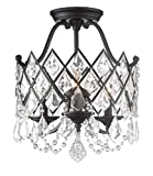 Designers Fountain 90311-VB Ravina 3 Light Semi-Flush