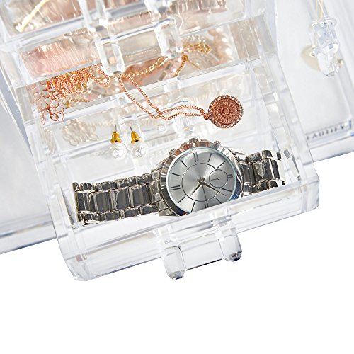 -[ Beautify Jewellery Organiser Clear Acrylic Storage Box with 6 Drawers  ]-