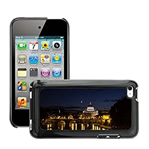 Hot Style Cell Phone PC Hard Case Cover // M00169015 Rome Trastevere Bridge Night // Apple ipod Touch 4 4G 4th
