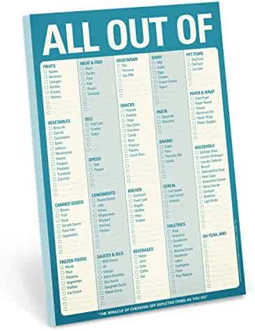 Knock Knock All Out Of Pad Grocery List Note Pad, 6 x 9-inches (Blue)