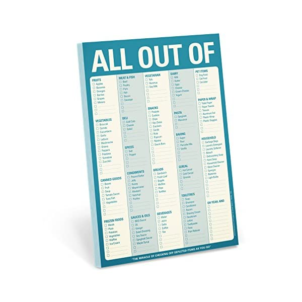 Knock Knock All Out Of Pad, Grocery List Note Pads