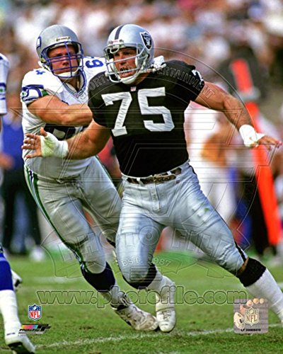 Howie Long 1992 Action Photo 11 x 14in