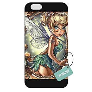 Onelee(TM) - Customized Disney Pricess Tattoo iPhone 6 Plus 5.5 Hard Plastic case cover Tinker Bell - Black 06 WANGJING JINDA