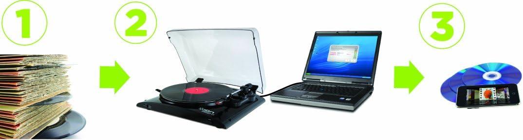 Amazon.com: ION Profile, tocadiscos de vinilos y MP3 ...
