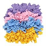 yoyoung Snuffle Mat for Dogs Handmade Dog Training Mat Play Mat Dog Nosework Blanket Encourages Natural Foraging Skills 16''x16'' (Four Color Mixed)
