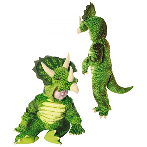 Dinosaur Costume Baby & Toddler Kids Triceratops Halloween Fancy Dress (L (Large), Green)