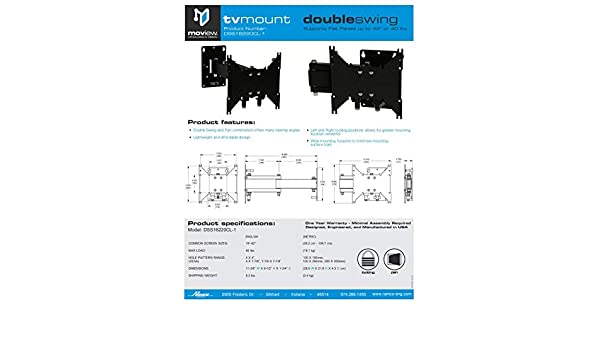 """DOUBLE 16/"""" ARM TV MOUNT WITH CENTER LOCK-RV HOME THIN DESIGN UP TO 200X200"""