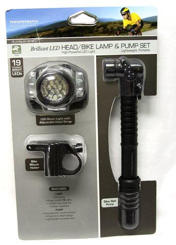 Brilliant LED Bike/Head Lamp and Pump Set