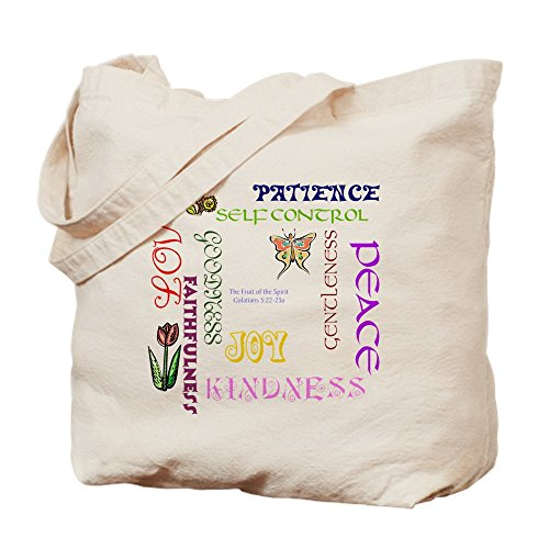 Religious Canvas Tote Bags (CafePress - Fruit Of The Spirit - Natural Canvas Tote Bag, Cloth Shopping Bag)