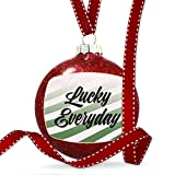 Christmas Decoration Lucky Everyday St. Patrick's Day Fading Green Stripes Ornament