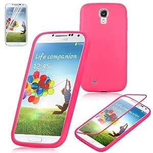 Swees Funda LTE TPU Back Cover con frente Carcasa Case para Samsung Galaxy S4 i9500 + Protectores de Pantalla - Rosa