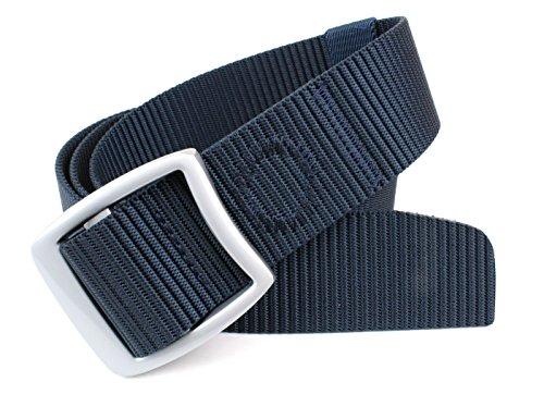 Navy Canvas Belt (Miliary Style Canvas Nylon Web Belt Metal Buckle 48
