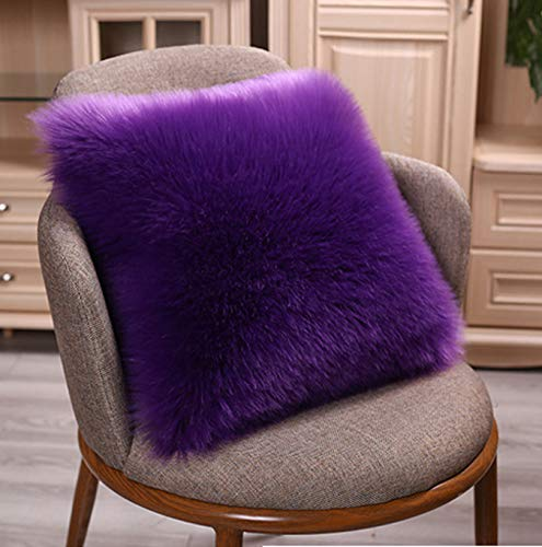 - CHITONE Luxury Soft Plush Faux Fur Throw Pillow Covers for Sofa, Couch Bed Chair 16
