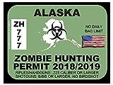 Alaska Zombie Hunting Permit (Bumper Sticker)