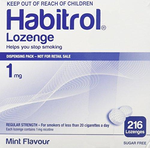 Habitrol Nicotine Lozenge Mint Flavor 216 Lozenges (1mg) from Novartis