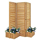 Yardistry YM11703 Fusion Planter Cedar Privacy Screen, Brown