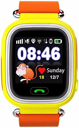 iikids Smart Watch Children GPS Q90 Touch Screen WIFI Positioning SOS Call Location Finder Device Tracker Kid Safe Anti Lost Monitor (Yellow)