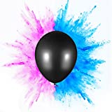 PROLOSO Gender Reveal Exploding Balloon Set (Pink & Blue Powder) - Perfect For Boy or Girl Party Pack (Jumbo 36'')