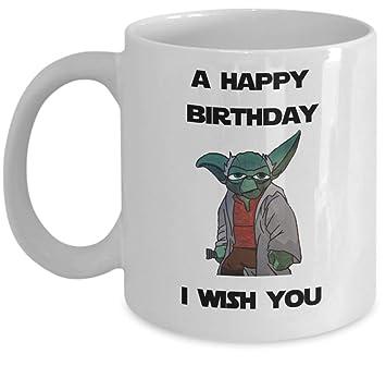 Amazon.com: Taza de café Star Wars – Un feliz cumpleaños que ...
