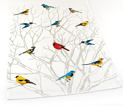 INDIA OVERSEAS Bird Watching Hand Towels: Colorful Artistic Wildlife Design, Set of 2 by INDIA OVERSEAS (Image #3)