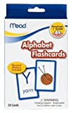 Mead Flashcards, Alphabet, Grades P-1, 3.62 x 5.25 Inches, 55 Cards (63118)