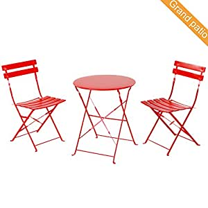 Grand Patio Premium Steel Patio Bistro Set, Folding Outdoor Patio Furniture  Sets, 3 Piece