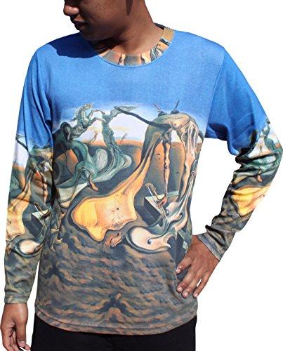 RaanPahMuang Salvador Dali Daddy longlegs Long Sleeve Mens Shirt, Medium