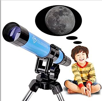Moutec child Telescope 30mm Apeture Travel Scope 300mm AZ Mount Portable Telescope Gift for Kids Educational /&Beginners(30300) with Tripod