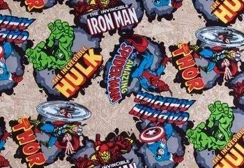 Black Ironman Red Spiderman Green Hulk Window Curtain Valance made from Marvel Comics Super Hero Cotton Fabric 43