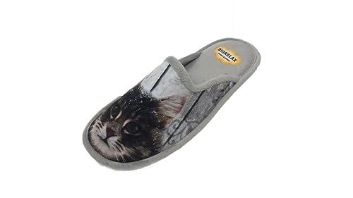 27855837a3b45 Biorelax Chaussure pour Femme Femme et Fille Modèle Design Cat Talon  Ouvert Couleur